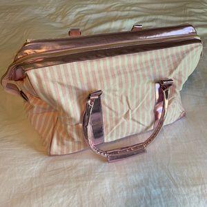 Victoria's Secret striped weekend bag